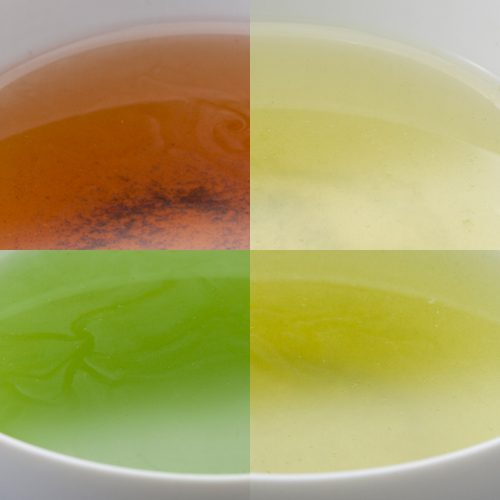 カクテルにだって負けない!自然が作り出すキレイなお茶の色。