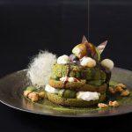まるでパフェのような京都の抹茶パンケーキ。