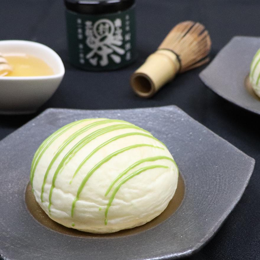 京都府産抹茶を使用したクリームパン