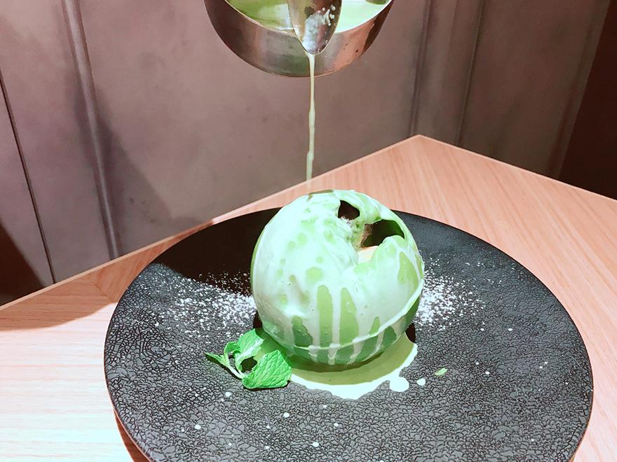 伊勢茶の抹茶チョコドーム