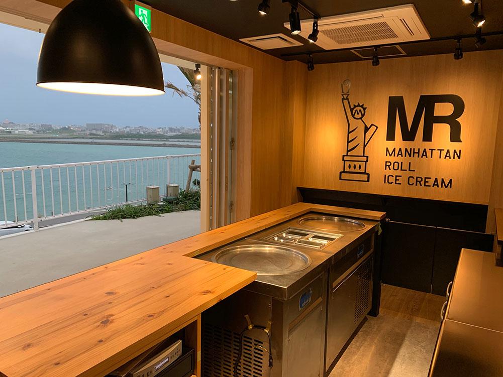 マンハッタンロールアイスクリーム 沖縄ウミカジテラス店