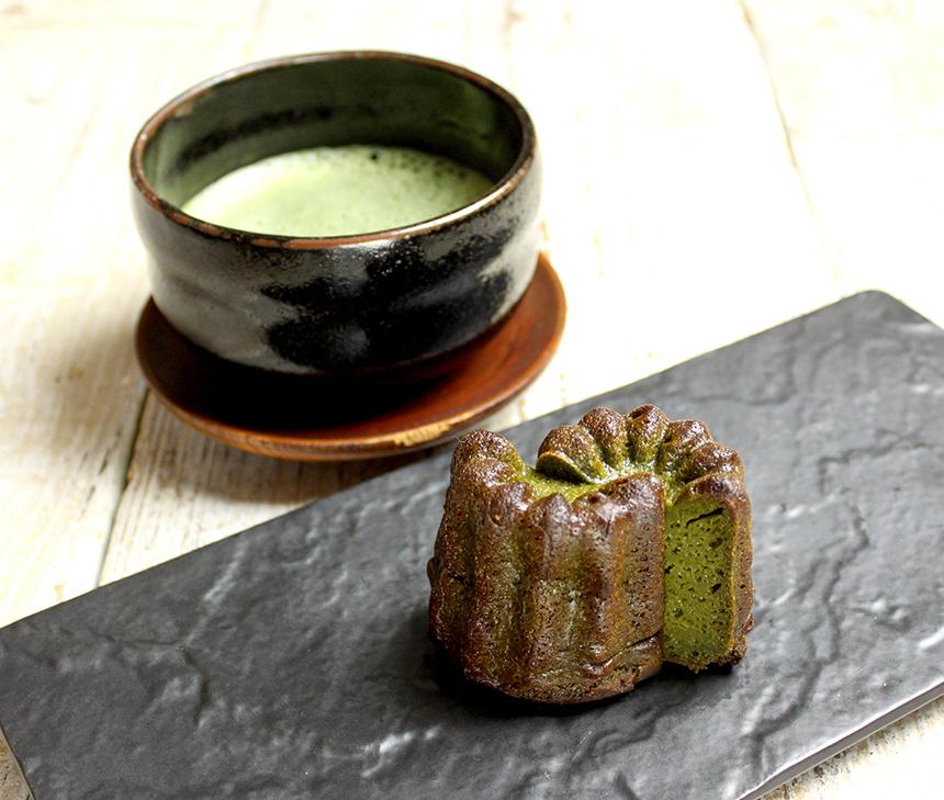 焦がし黒糖カヌレ《抹茶》 抹茶セット¥500