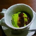 コップ入り抹茶アイス