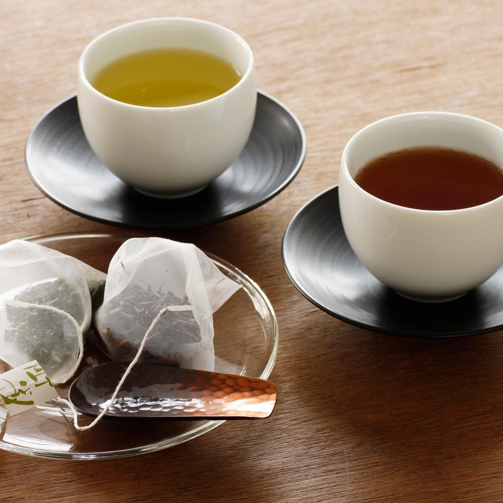 白煎茶と黒ほうじ